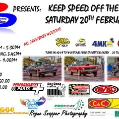 Keep Speed Off The Streets – Saturday 20th Feb 2016