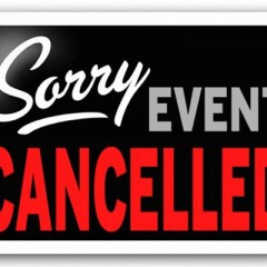 Cancellation of the Test and Tune and Race Meeting on the 11/12th of March 2016