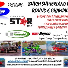 Butch Sutherland & Round 6 Championships – Saturday 8th October