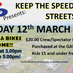 12th March 2021 – Keep the Speed off the streets!
